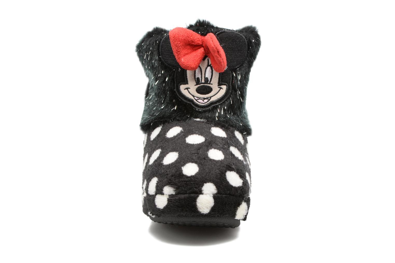 Pantofole Minnie Spinato Nero modello indossato