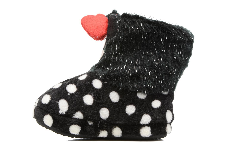 Pantofole Minnie Spinato Nero immagine frontale