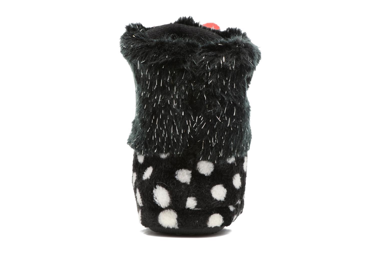 Pantuflas Minnie Spinato Negro vista lateral derecha