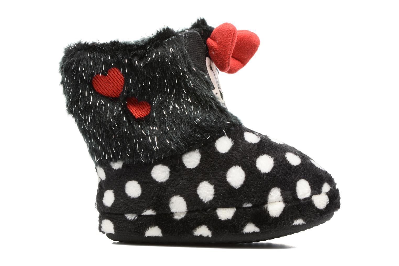 Pantofole Minnie Spinato Nero immagine posteriore