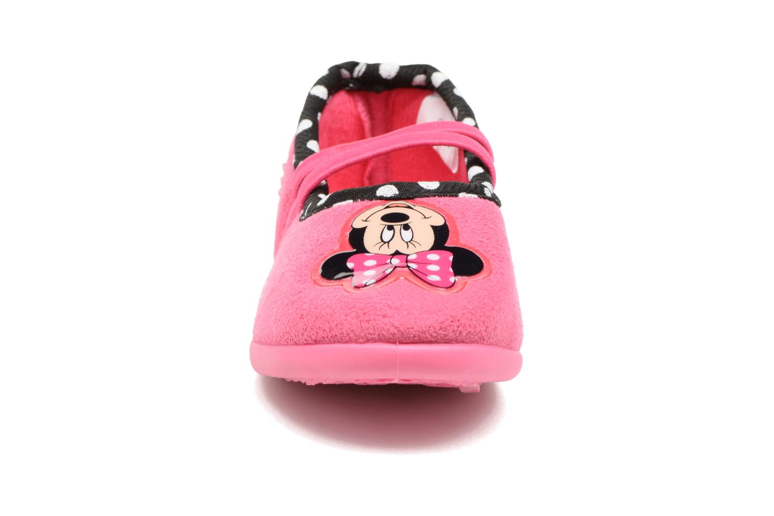 Chaussons Minnie Songe Rose vue portées chaussures