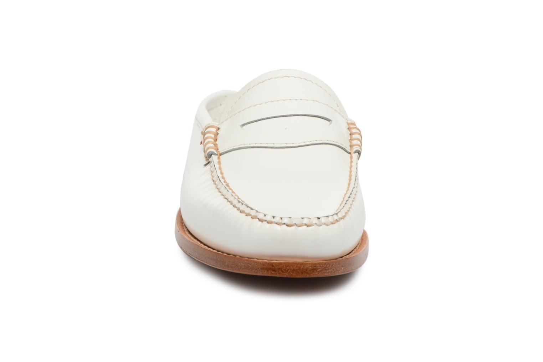 Mocassins G.H. Bass Weejun WMN Penny Slide Blanc vue portées chaussures