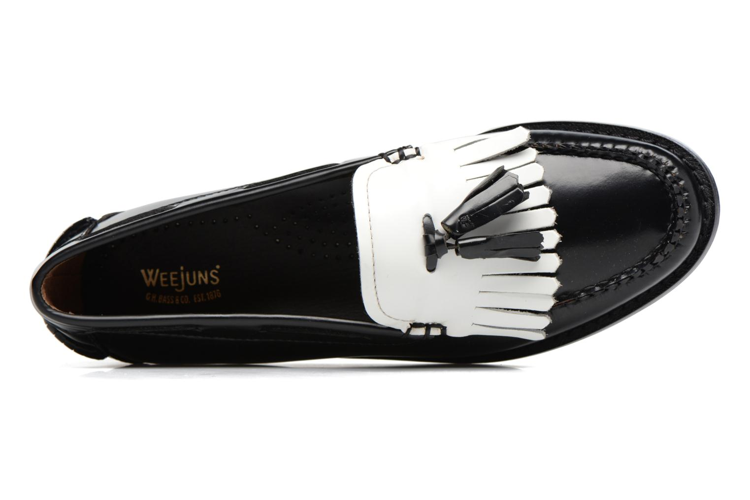 Weejun WMN Esther Kiltie 001 Black & White Leather