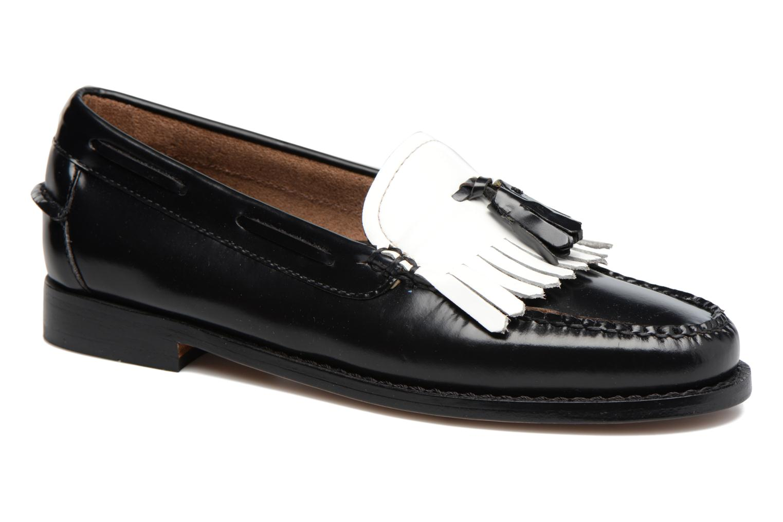 Weejun WMN Esther Kiltie 001 Black & White Leather