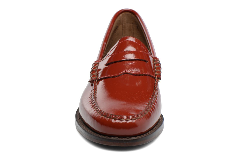Mocassins G.H. Bass Weejun WMN Penny Wheel Rouge vue portées chaussures