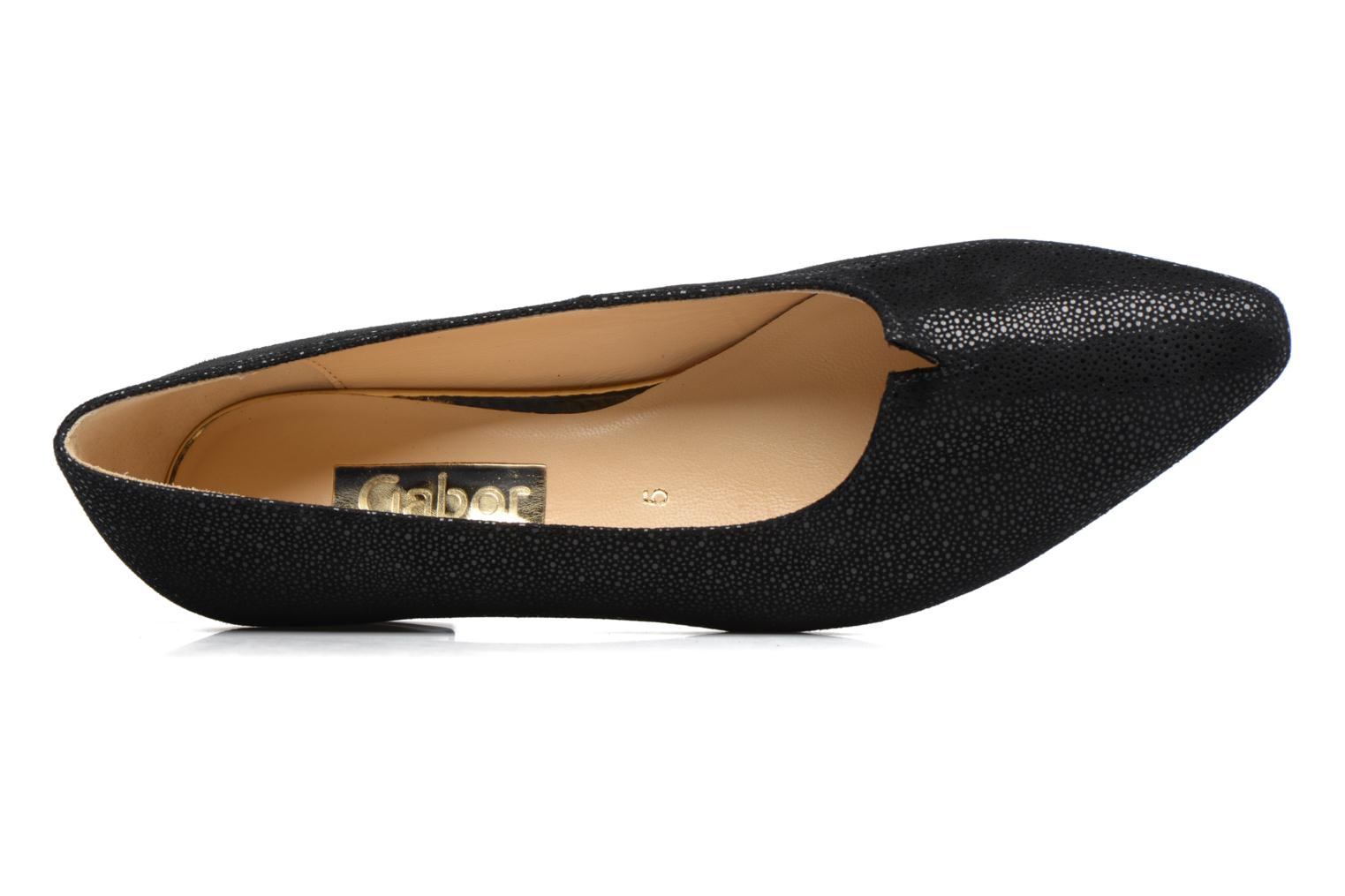Ballet pumps Gabor Gabriellana Black view from the left