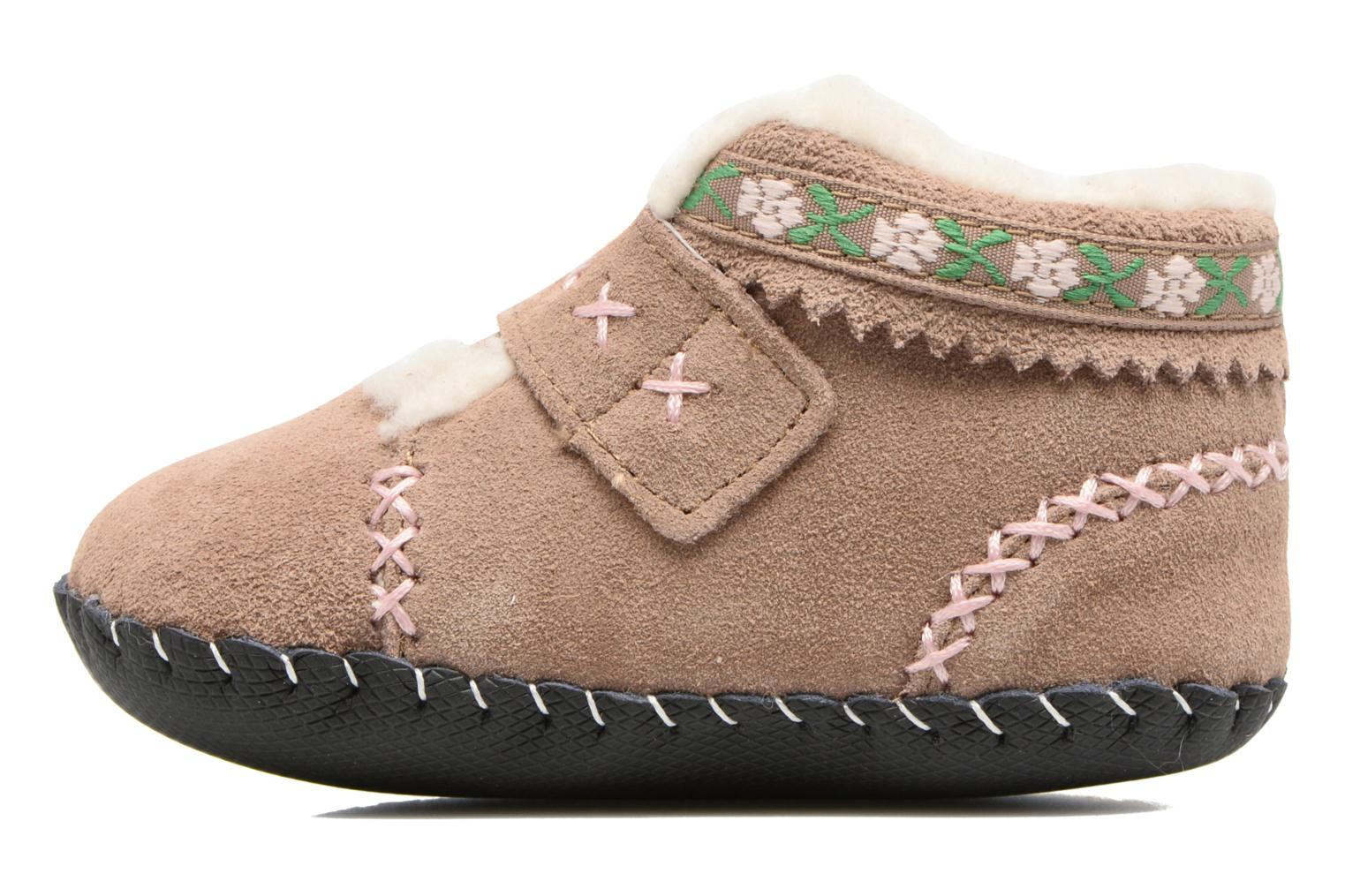 Pantofole Pediped Rosa Beige immagine frontale