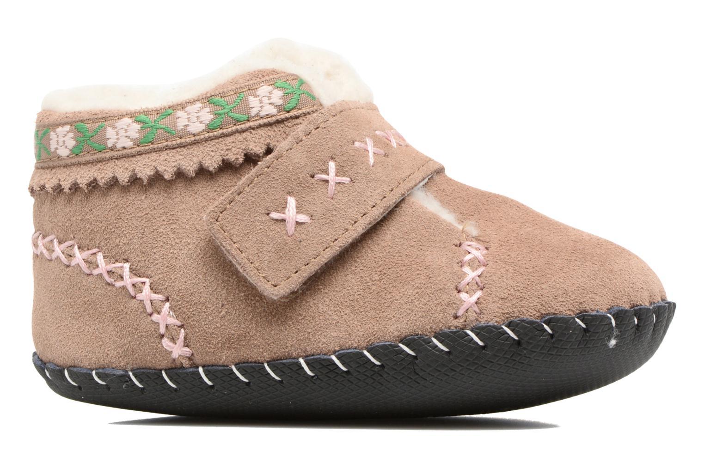 Pantofole Pediped Rosa Beige immagine posteriore