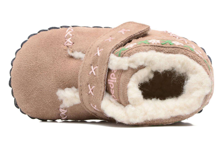 Pantofole Pediped Rosa Beige immagine sinistra