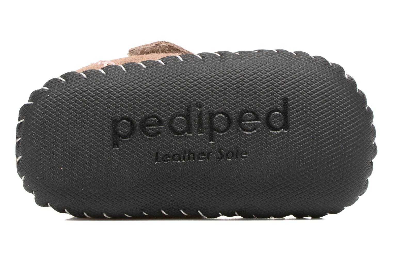 Pantofole Pediped Rosa Beige immagine dall'alto