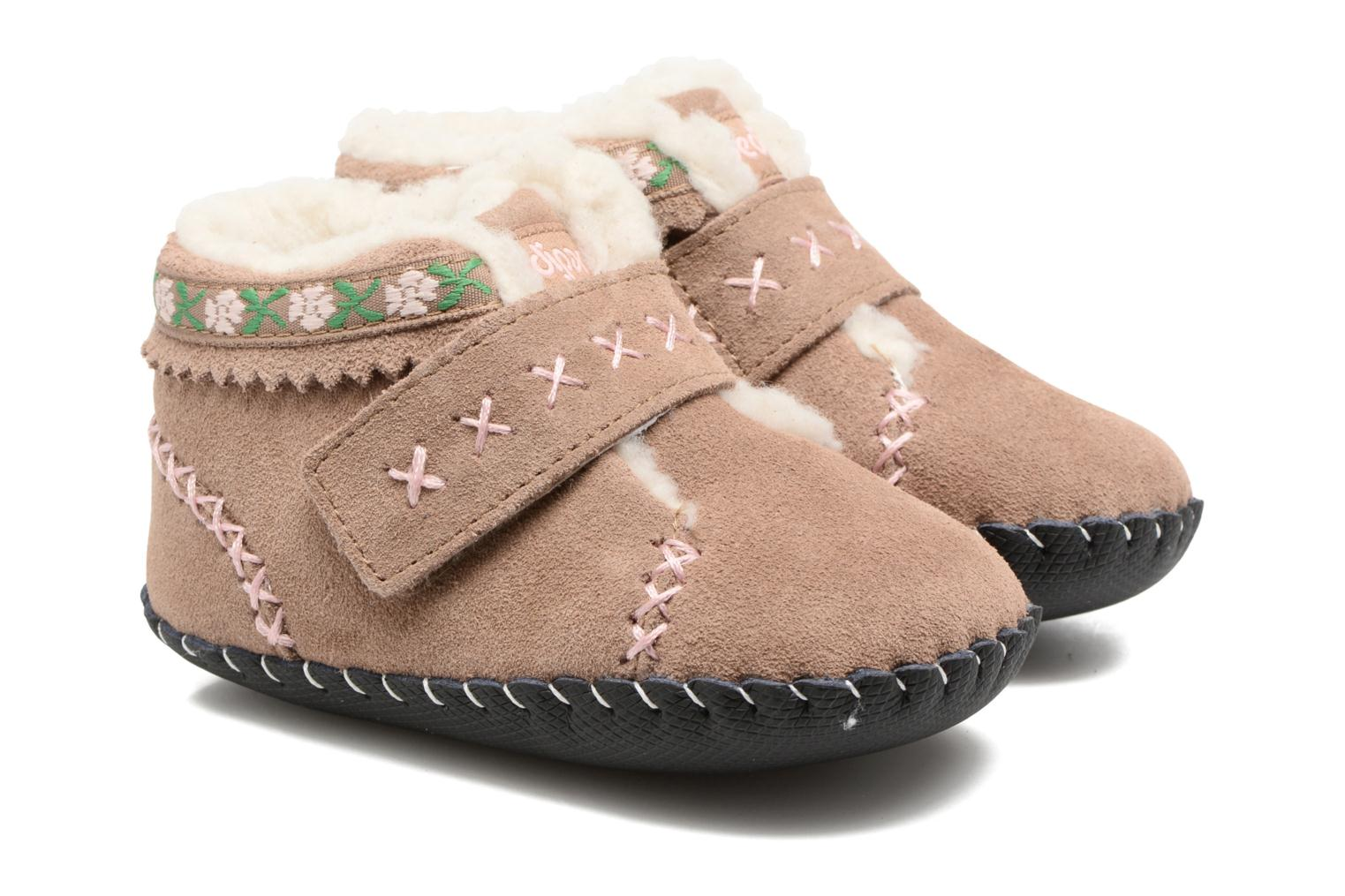 Slippers Pediped Rosa Beige detailed view/ Pair view