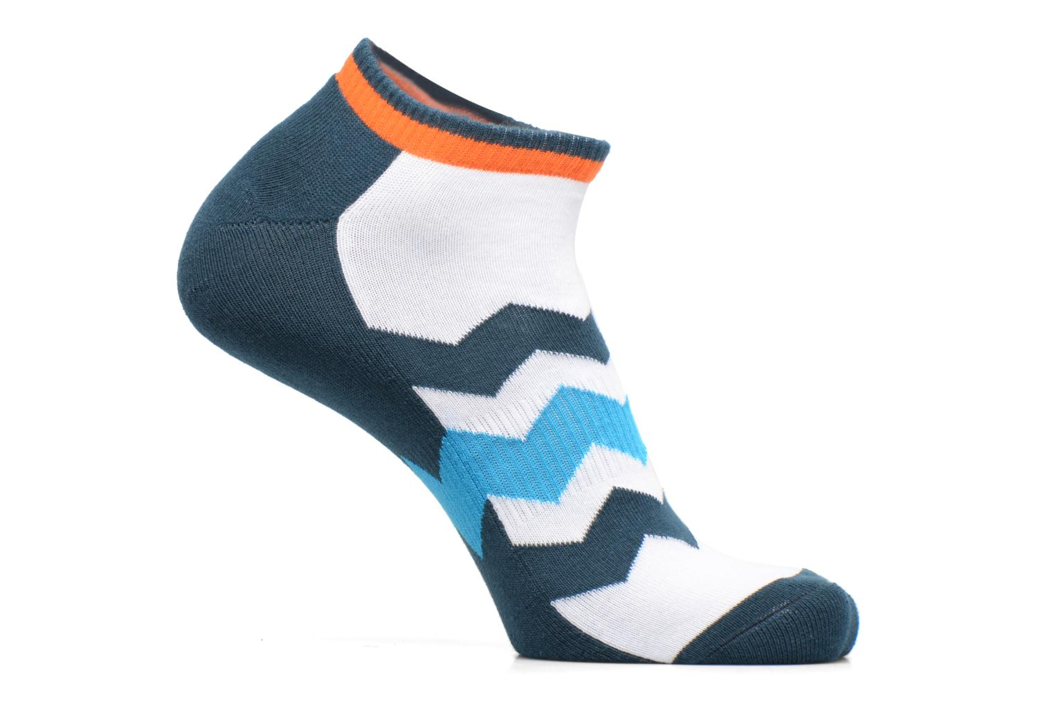 Chaussettes et collants Happy Socks Athletic Zig Stripe Low Bleu vue détail/paire