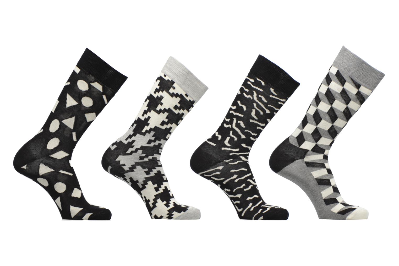 Chaussettes et collants Happy Socks Gift Box Black White Lot de 4 Noir vue derrière