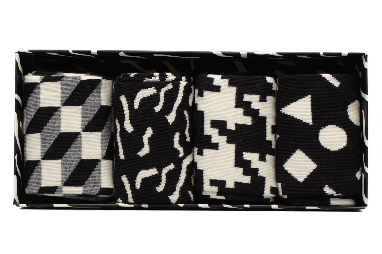 Chaussettes et collants Happy Socks Gift Box Black White Lot de 4 Noir vue détail/paire