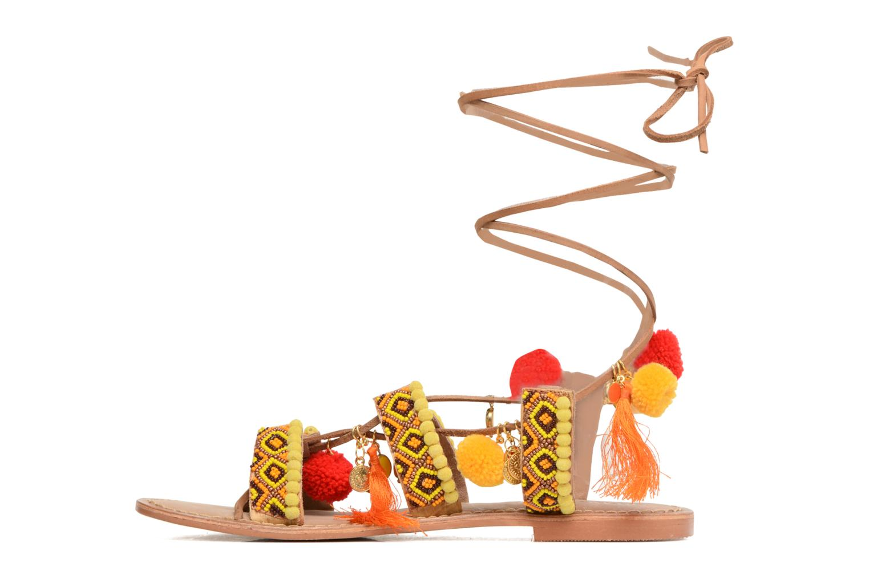 Sandales et nu-pieds Vero Moda Lullu Leather Sandal Orange vue face