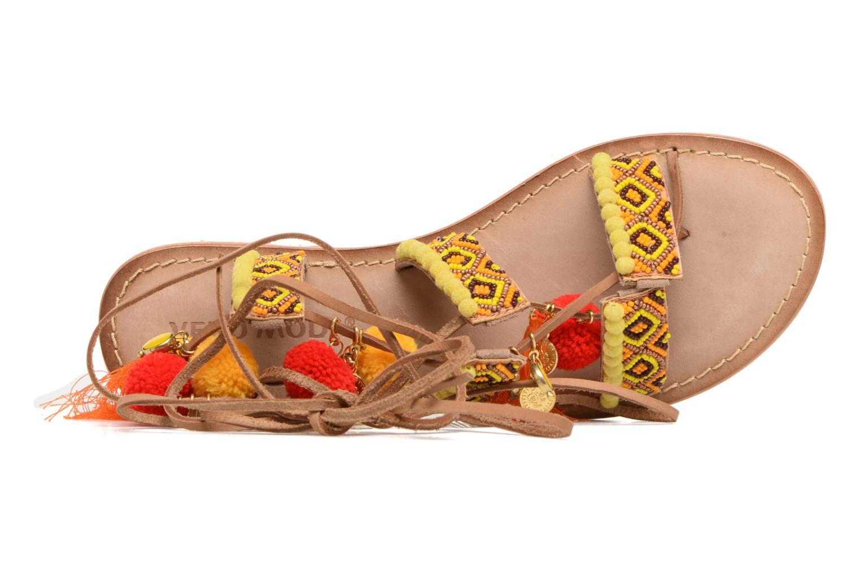 Sandales et nu-pieds Vero Moda Lullu Leather Sandal Orange vue derrière