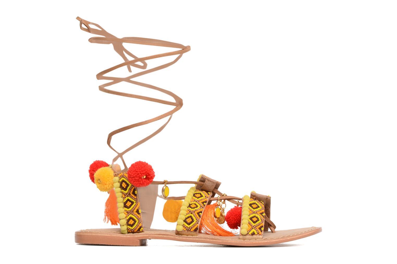 Sandalen Vero Moda Lullu Leather Sandal Oranje links