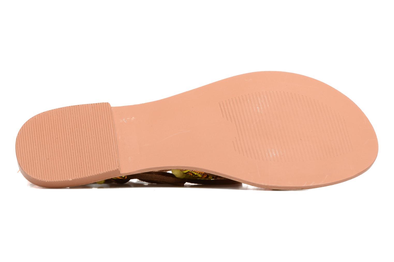 Sandales et nu-pieds Vero Moda Lullu Leather Sandal Orange vue haut