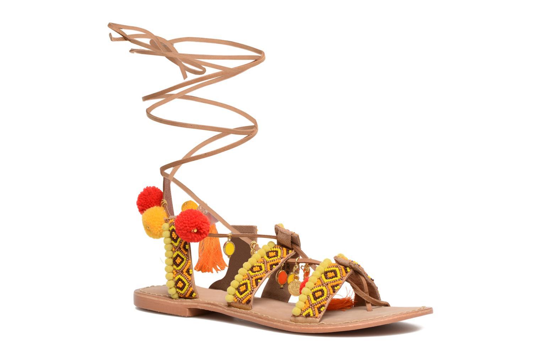 Sandales et nu-pieds Vero Moda Lullu Leather Sandal Orange vue détail/paire