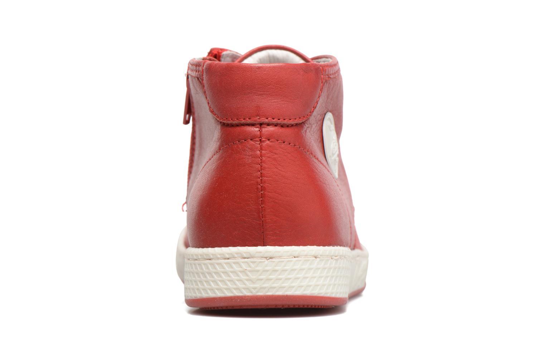 Baskets Pataugas JIL Rouge vue droite