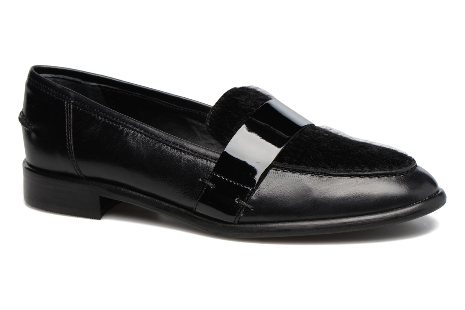 Loafers Georgia Rose Loupom Black detailed view/ Pair view