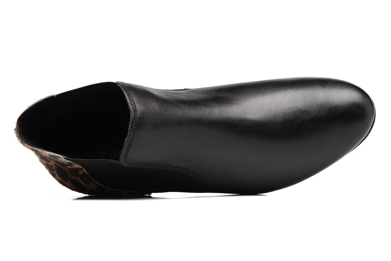 Lavole cuir noir et marron