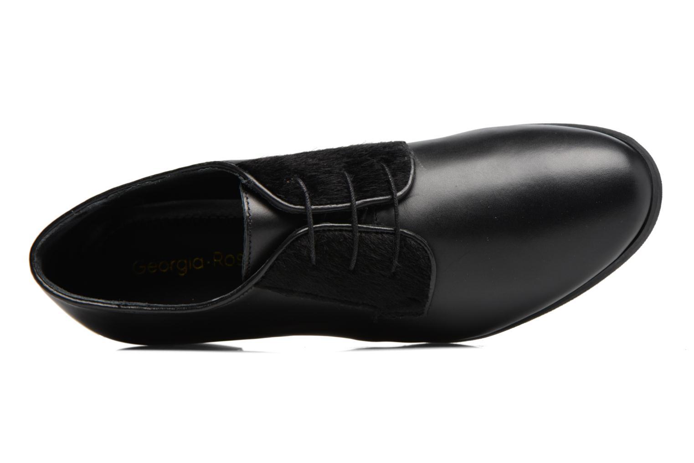 Zapatos con cordones Georgia Rose Lapra Negro vista lateral izquierda