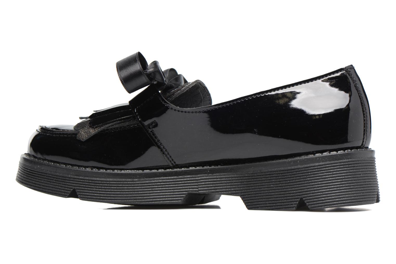 Loafers Melania SC. BASSA LACCI Black front view