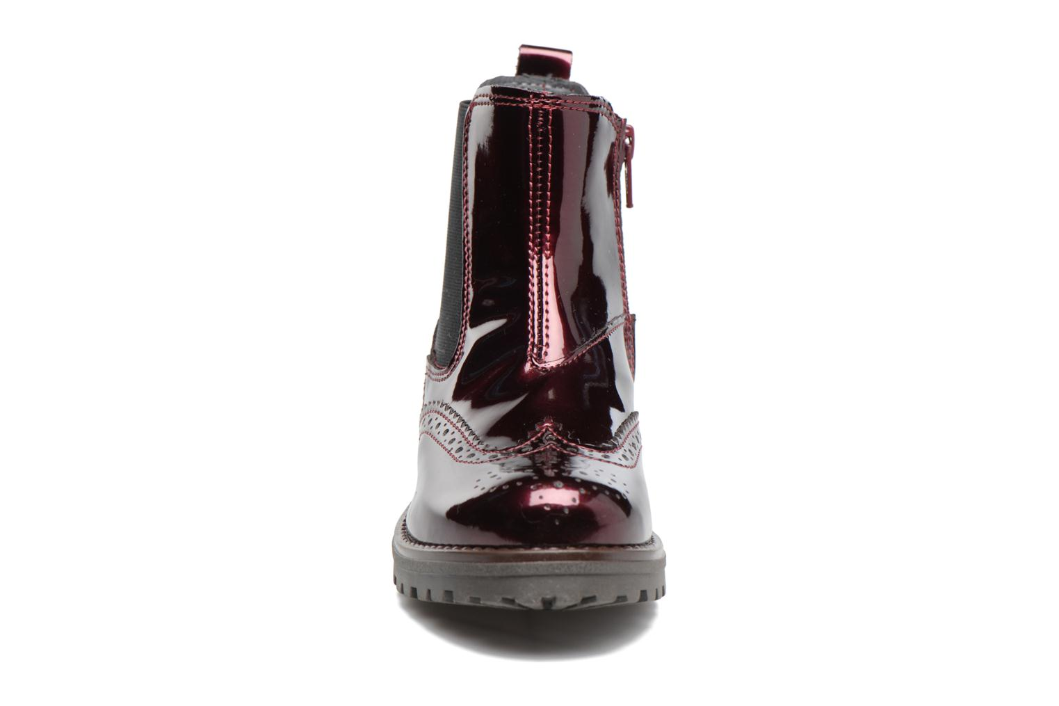 Ankle boots Melania TRONCHETTO Burgundy model view