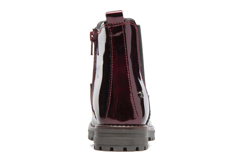 Boots Melania TRONCHETTO Vinröd Bild från höger sidan
