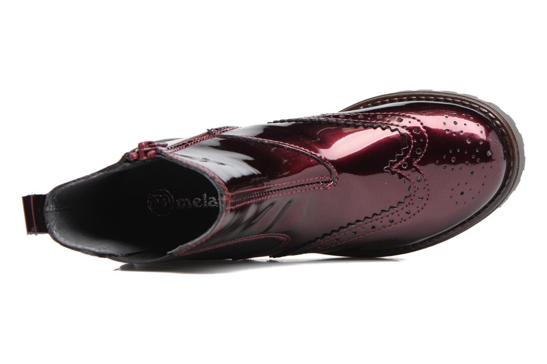 Bottines et boots Melania TRONCHETTO Bordeaux vue gauche