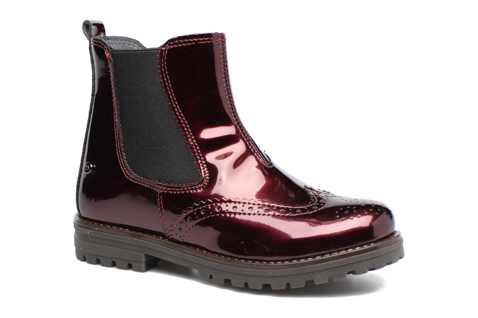 Ankle boots Melania TRONCHETTO Burgundy detailed view/ Pair view
