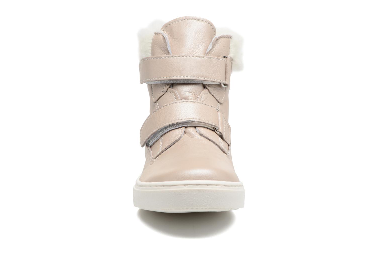 Sneakers Melania POLACCO VELCRI B Argento modello indossato