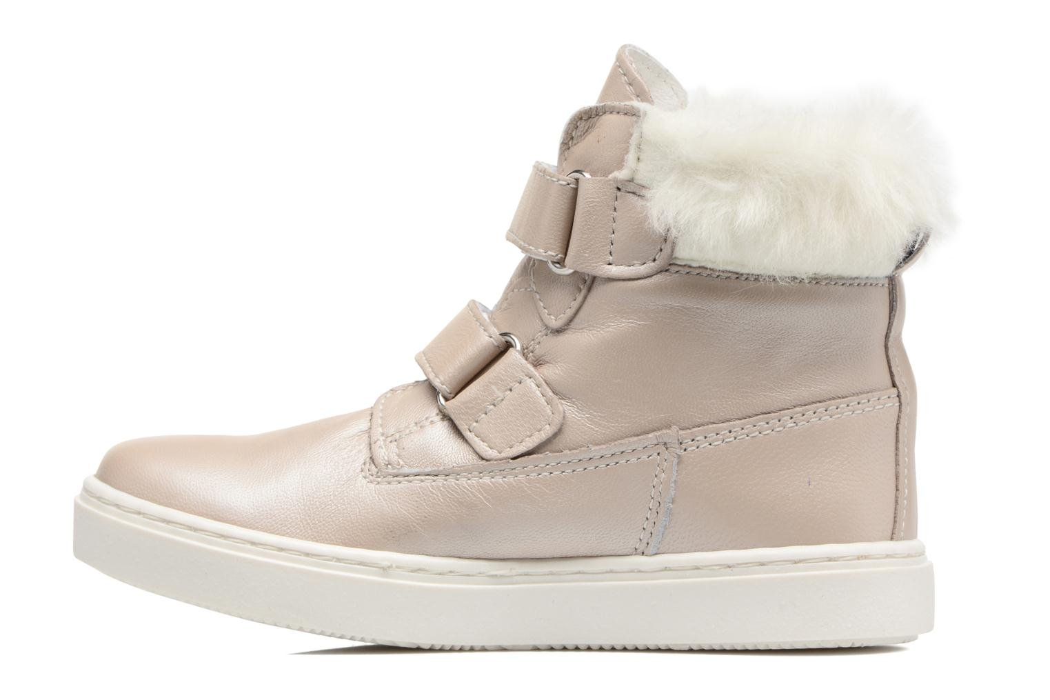 Trainers Melania POLACCO VELCRI B Silver front view