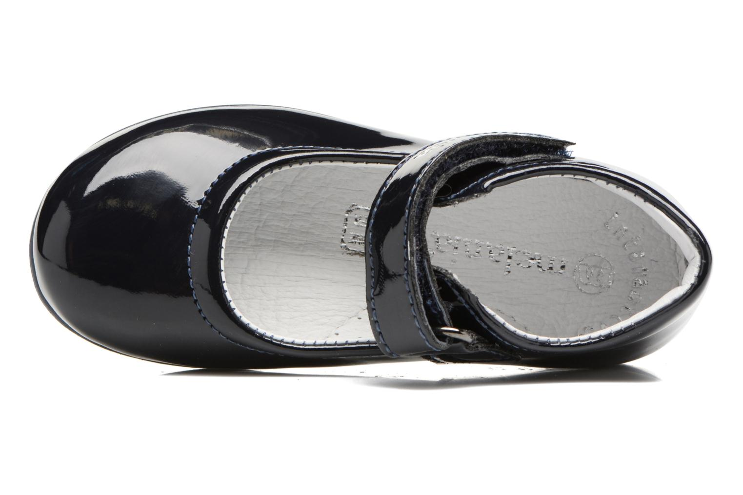 Ballet pumps Melania POLACCO VELCRO Blue view from the left