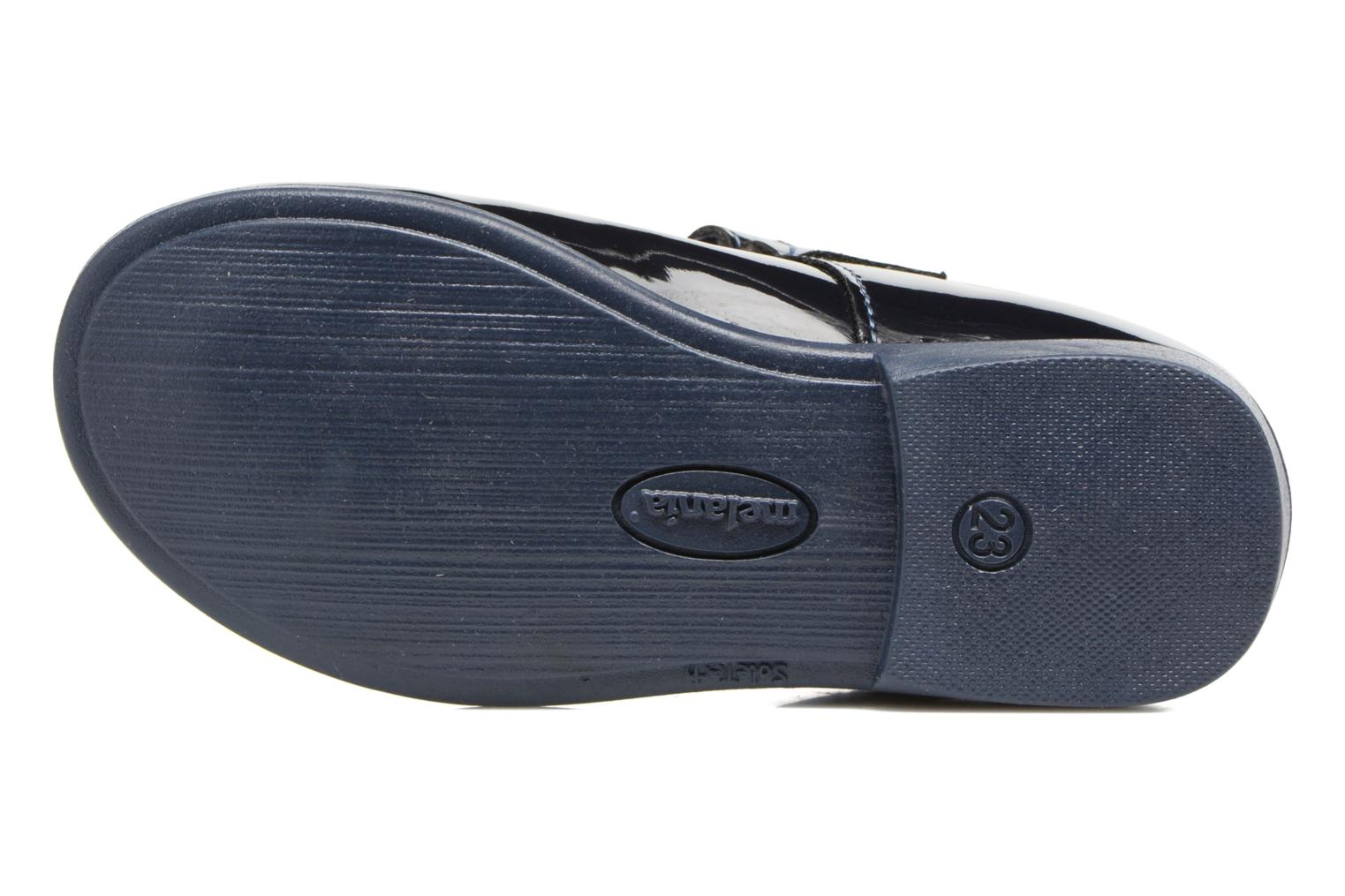 Ballet pumps Melania POLACCO VELCRO Blue view from above