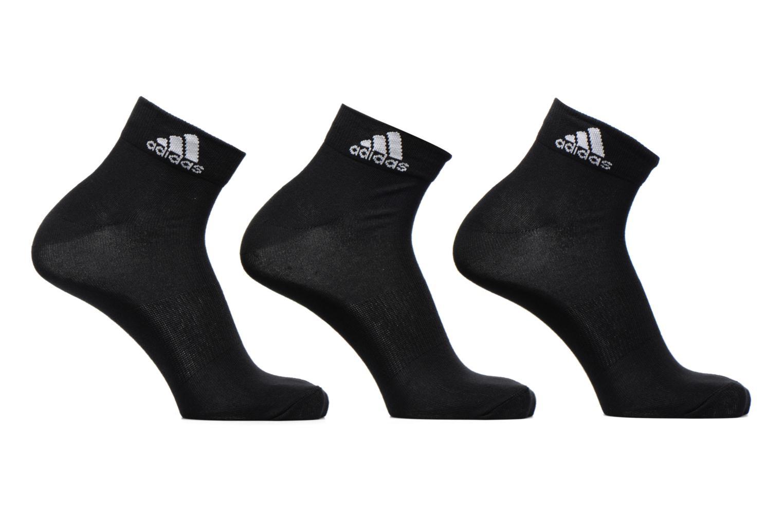 Strømper og tights Adidas Performance PER ANKLE T 3PP Sort detaljeret billede af skoene