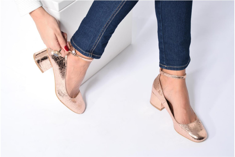 Bailarinas I Love Shoes CAMILLA Azul vista de abajo