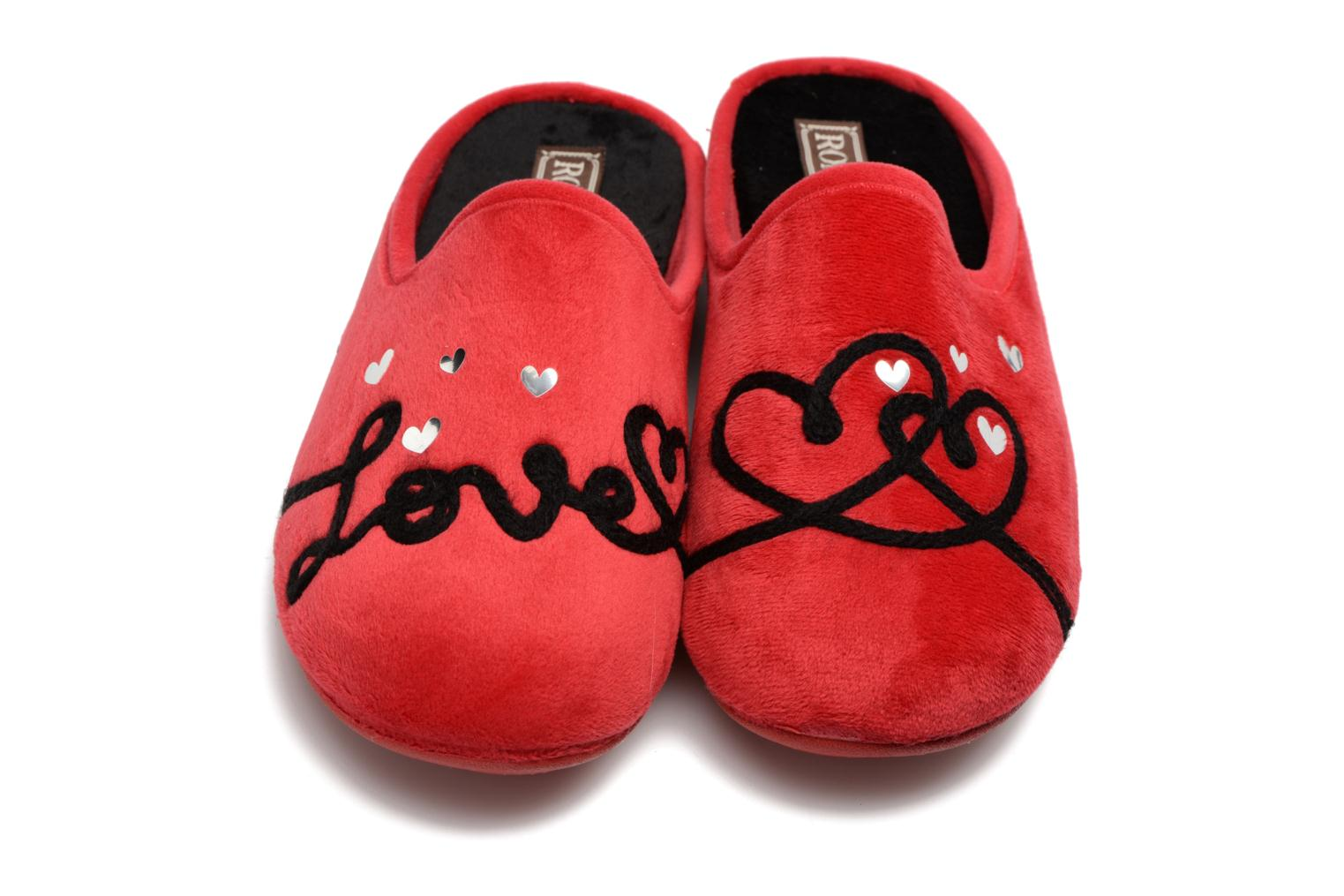 Chaussons Rondinaud Guisane Rouge vue 3/4