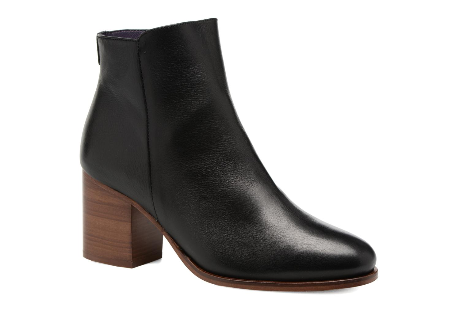 Ankle boots Anaki Jada Black detailed view/ Pair view