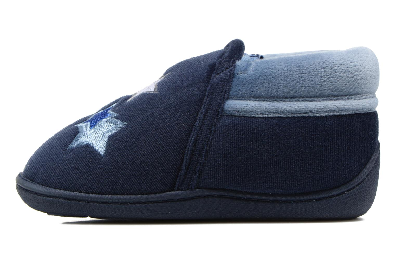 Pantofole Isotoner Botillon Zip Polyvelours Azzurro immagine frontale