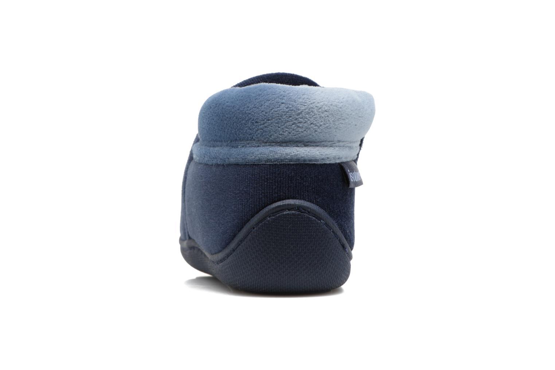 Pantofole Isotoner Botillon Zip Polyvelours Azzurro immagine destra