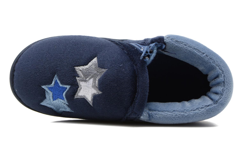 Pantofole Isotoner Botillon Zip Polyvelours Azzurro immagine sinistra