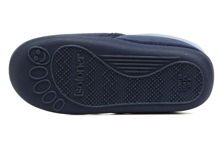 Pantofole Isotoner Botillon Zip Polyvelours Azzurro immagine dall'alto