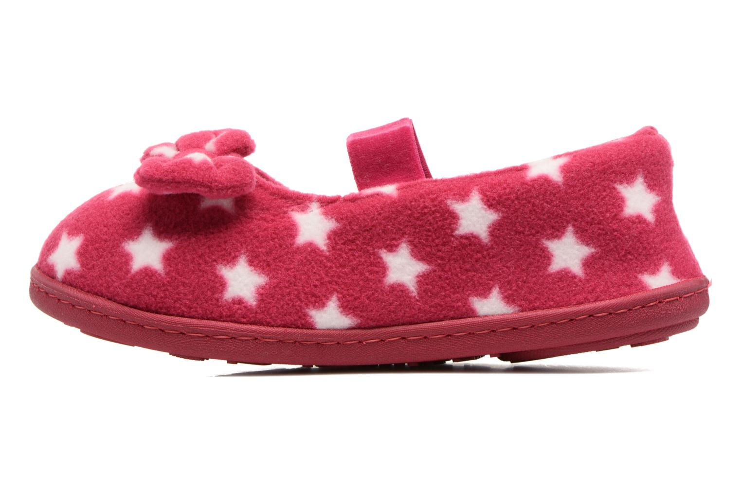 Chaussons Isotoner Ballerine Polaire Rose vue face