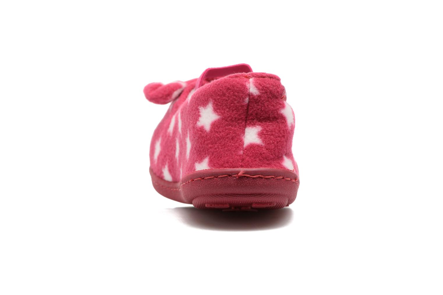 Chaussons Isotoner Ballerine Polaire Rose vue droite