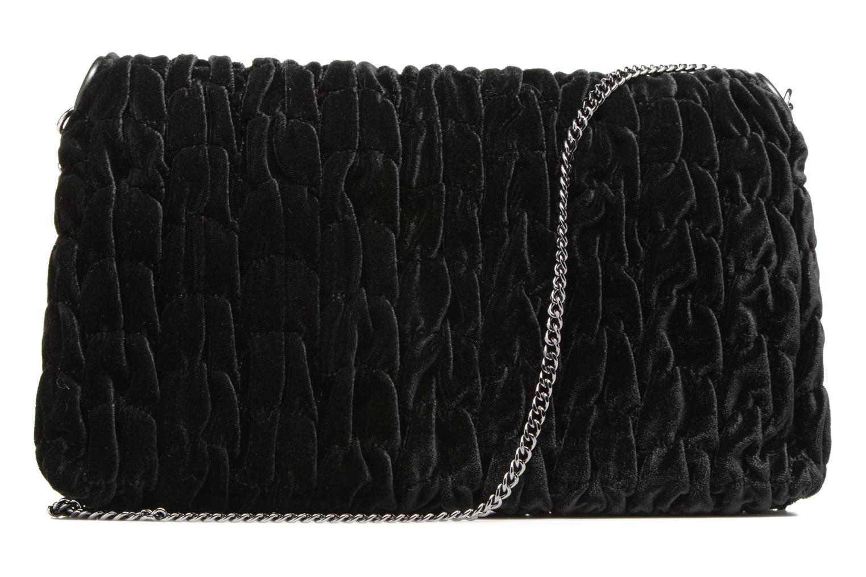 Bolsos de mano Love Moschino Pochette Chaine Velvet Negro vista de frente