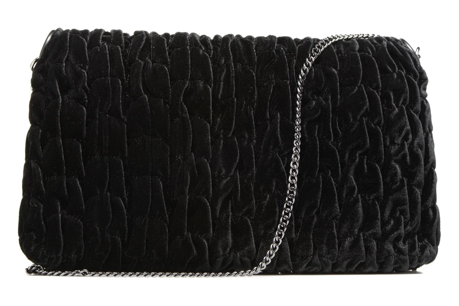 Handbags Love Moschino Pochette Chaine Velvet Black front view