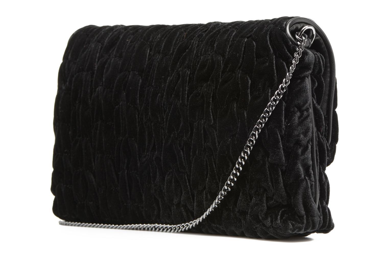 Bolsos de mano Love Moschino Pochette Chaine Velvet Negro vista lateral derecha