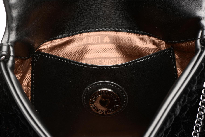 Borse Love Moschino Pochette Chaine Velvet Nero immagine posteriore